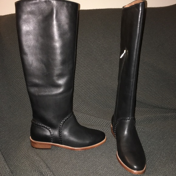 b0b01ff9e89 New Ugg black Gracen Whipstitch tall zip boots